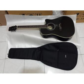 Gitar ibanez akustik elektrik jumbo plus softcase