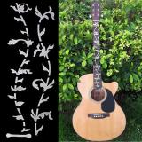 Harga Teamtop Pohon Kehidupan Gitar Bass Fretboard Tatahan Stiker Dinding Stiker Dibetulkan Perak Tipis Asli