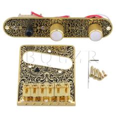 Harga Tremolo Bridge 3 Way Wired Control Plate W Switch Knobs Gold Black Intl Termahal