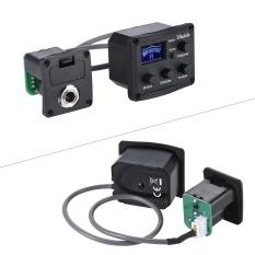 Ukulele Ukelele Uke Piezo Pickup Preamp 3-Band EQ Equalizer Tuner System dengan LCD Display-Intl