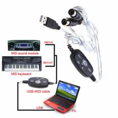 USB MIDI Cable Converter PC to Music Keyboard Adapter Cable AY03 - Hitam