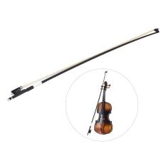 Tips Beli Seimbang Carbon Fiber 4 4 Violin Fiddle Bow Round Stick Indah Horsehair Katak Ebony Outdoorfree Intl