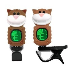 Westshell Guitar Tuner Clip-On Cartoon Cat with LCD Display for All Instruments with Bass, Ukulele,Violin Accessories--Brown,T-0 - intl