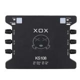 Spesifikasi Xox Ks108 Usb Audio Antarmuka Jaringan Online Bernyanyi Device High Definition Audio Mixer Sound Card Untuk Merekam Hosting Speech Hiburan Rumah Apresiasi Musik Hitam Intl Yang Bagus Dan Murah