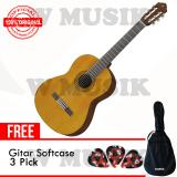 Review Yamaha Gitar Akustik C 40 C40 Natural Softcase 3 Pick Terbaru
