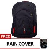 Model Bag Stuff Campus Double Pocket Backpack Raincover Laptop Slot Terbaru