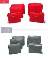Spesifikasi Bags In Bag Travel Set 5 In 1 Duo Package Merah Abu Abu Lengkap Dengan Harga