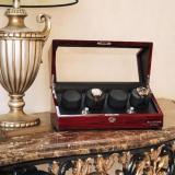 Spesifikasi Billstone Collector 4 Watch Winder Rosewood Finish Black Leather Murah