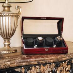 Toko Billstone Collector 4 Watch Winder Rosewood Finish Black Leather Terdekat