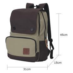 Harga Catenzo Tas Ransel Canvas Man Bag Best Seller Brown Cream Dan Spesifikasinya