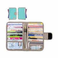 Spesifikasi D Renbellony Card Holder Light Turquoise Green Dompet Kartu Tempat Kartu Atm Dompet Koin Dan Harganya