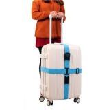 Toko Ezy Tali Koper Silang Cross Luggage Strap Biru Lengkap