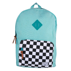 Herschel Heritage Canvas Backpack - Washed Teal-Checkerboard