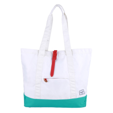Herschel Market Xl Tote - White-Mark Teal-Racing Red