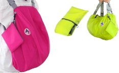 Harga Iconic Three Way Korean Foldable Backpack With Carrying Pouch Hot Pink Green Yang Murah Dan Bagus