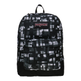 Harga Jansport Black Label Superbreak Backpack Black Glitch Plaid Baru