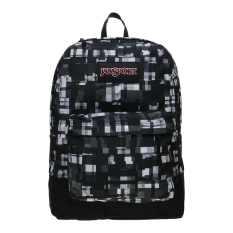 Toko Jansport Black Label Superbreak Backpack Black Glitch Plaid Lengkap Di Indonesia