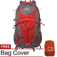 Spesifikasi Luminox Tas Hiking Backpack Ransel Travel Outdoor Carrier 5036 50 Liter Gratis Rain Cover Merah Luminox Terbaru