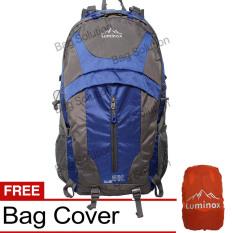 Beli Luminox Tas Hiking Backpack Ransel Travel Outdoor Carrier 5036 50 Liter Gratis Rain Cover Navy Blue Online Murah