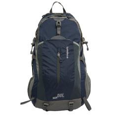 Spesifikasi Luminox Tas Hiking Backpack Ransel Travel Outdoor Carrier 5028 50 Liter Gratis Rain Cover Navy Blue