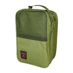 Miliki Segera Lynx Candy Travel Shoes Storage Bag Tas Sepatu Hijau