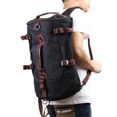 Man Portable Canvas Travel Outdoor Bag Black Oem Diskon 50