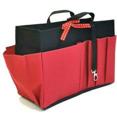 Harga Morning Bag Organizer Classic 12 Ruang Boc Merah Kombinasi Hitam