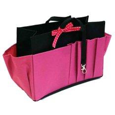 Morning Bag Organizer Classic 12 Ruang Boc Pink Kombinasi Hitam Di Indonesia