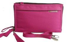 Harga Morning Double Wallet Handphone Organizer Pink Branded