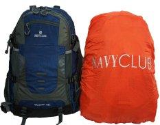 Jual Navy Club Tas Hiking Backpack Ransel Travel Outdoor Carrier 9086 50 Liter Gratis Rain Cover Navy Blue Branded Murah