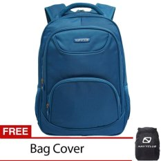Review Toko Navy Club Tas Ransel Laptop Tahan Air Tas Pria Tas Wanita 8297 Backpack Up To 15 Inch Bonus Bag Cover Biru