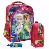 Spesifikasi Onlan Disney Frozen Tas Ransel 5D Ukuran Sd New Arrival Import Dan Kotak Pensil Pink Lengkap