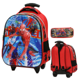 Beli Onlan Marvel Spiderman 5D Timbul Anti Gores Tas Trolley Anak Tk Dan Kotak Pensil Red Seken