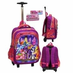 Toko Onlan My Little Pony 5D Timbul Tas Trolley Sd Gagang Stainless Dan Kotak Pensil Set Alat Tulis Terlengkap