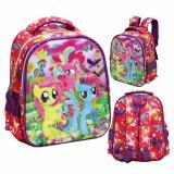 Review Onlan My Little Pony 6D Timbul Anti Gores Tas Ransel Tk Kualitas Bagus New Model Pink Onlan