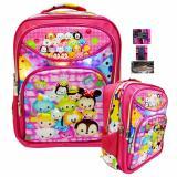 Harga Onlan Tas Lampu Ransel Sd Ukuran 3 Kantung Besar Karakter Tsum Tsum Unik Dan Lucu Import Pink Murah