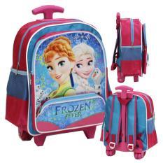 Harga Onlan Trolley Sch**l Bag Disney Frozen Ukuran Tk Bahan Saten Pink Termurah