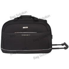 Polo Hunter Tas Kabin Trolley - Duffle Bag with Trolley - Tas Pria Tas Wanita Travel Bag Trolley 593 Size 19 inch - Hitam a