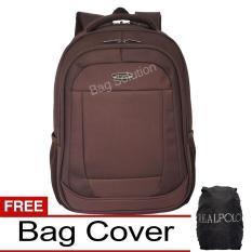 Harga Real Polo Tas Ransel Laptop Waterproof 8315 Coffee Free Bag Cover Original