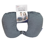 Travel With Us 2In1 Travel Pillow Grey Travel With Us Diskon 50