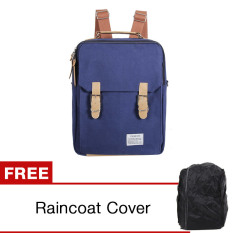 Cuci Gudang Unique Tas Laptop Ransel Backpack Dan Sling Bag Korean Elite Premium K7 Biru Gratis Raincoat Cover