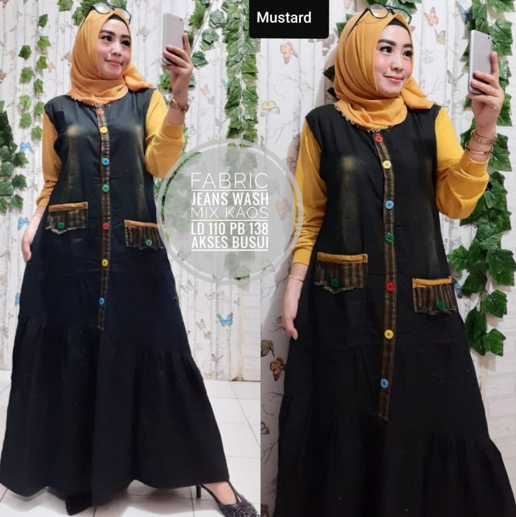 Gamis Levis Gamis Jeans Gamis Levis Mix Gamis Jeans Kombinasi Gamis Terbaru 2020 Gamis Wanita Muslimah Gamis Termurah Gamis Trend Lazada Indonesia