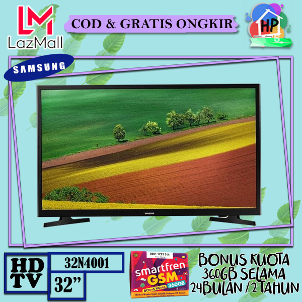 [ENGGAK PUAS ? KEMBALIKAN !!] Samsung LED TV 32 HD TV 32N4001 HD Picture Quality - USB Connection - Clean View + Bonus Smartfren 360GB [COD / GRATIS ONGKIR / GARANSI RESMI]