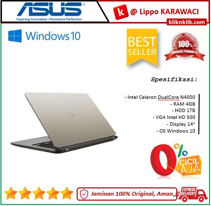 ASUS VivoBook A407MA-BV002T GOLD - N4000-4GB-1TB-Win10 NEW