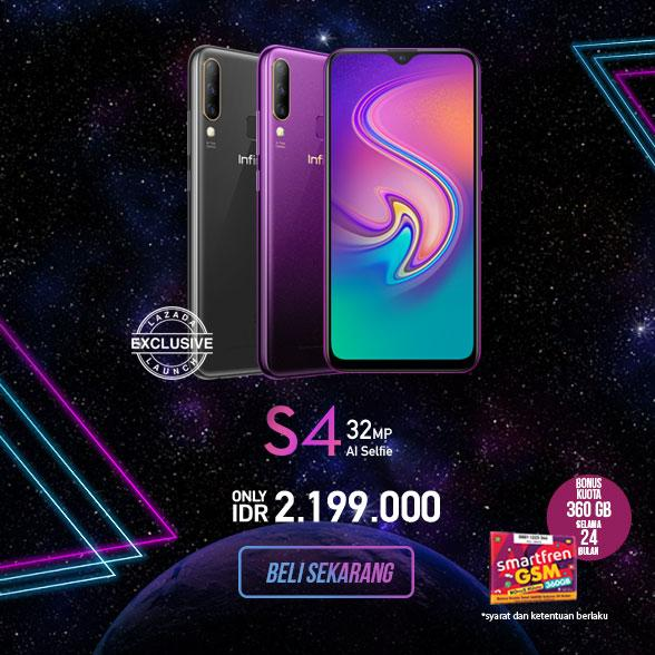 Infinix S4 - 32 MP AI Selfie Camera - 6/64 GB - Flash Sale 12 Agustus 2019, pukul 09.00