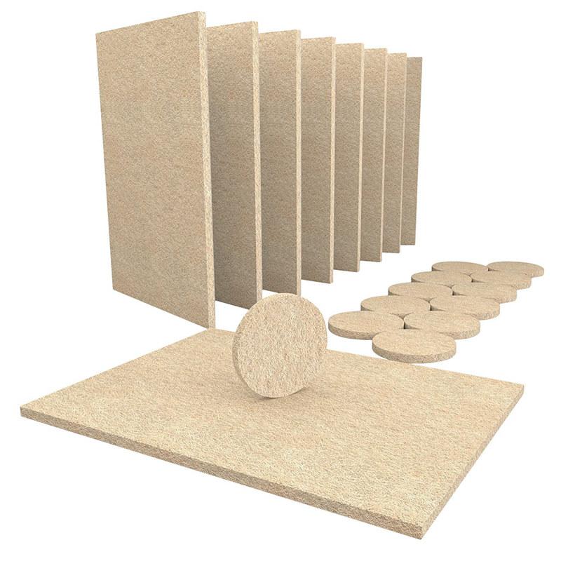 Chương Trình Ưu Đãi cho 8 Large Self Stick Furniture Felt Sheets 12 Round Felt Pads To Protect Hardwood Floors&Furniture
