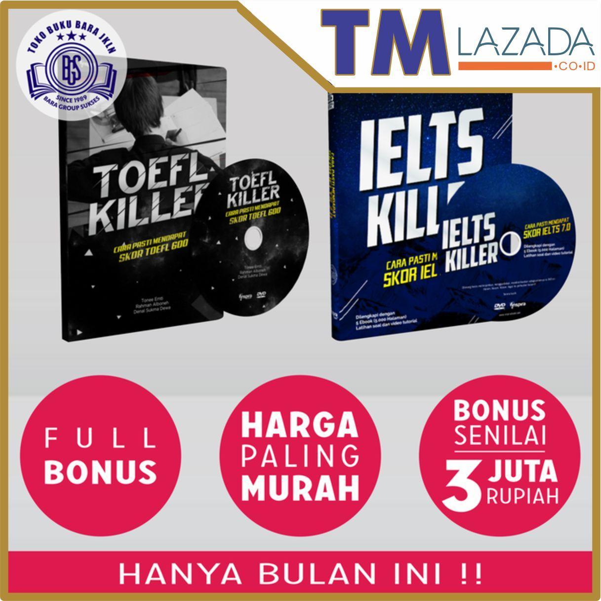 Buku + DVD Ielts Killer & Toefl Killer Terlaris di Lazada
