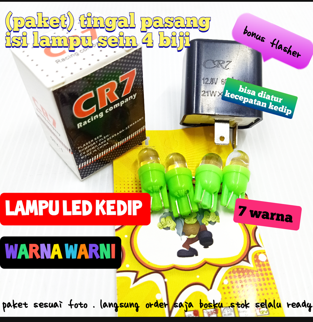 PROMO LAMPU SEIN SEN LED + FLASHER CR7