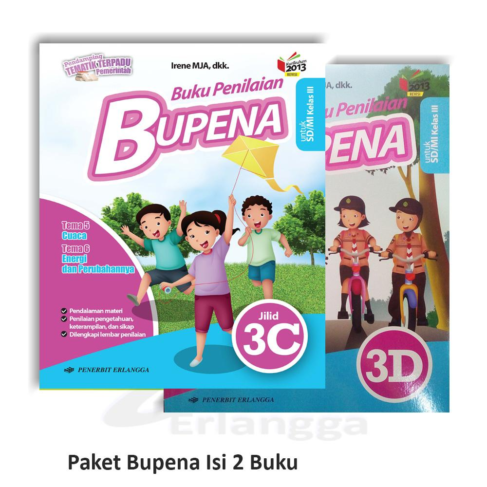 Bupena Kelas 3 Paket 3c Dan 3d Sd Mi K2013 Revisi Semester 2 Berisi Dua Buku Lazada Indonesia