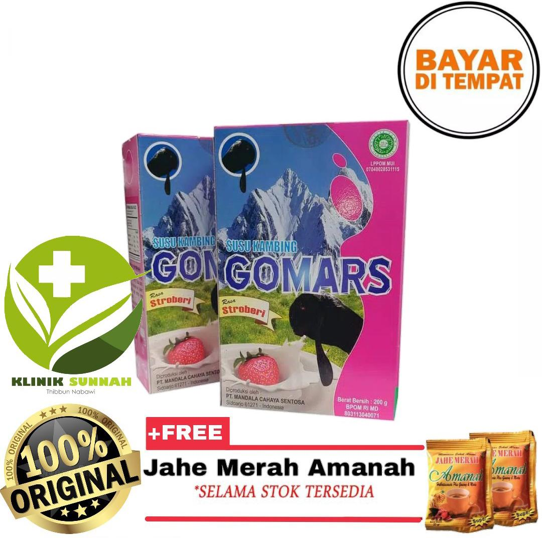 Susu Kambing Etawa Gomars Stroberi Bergaransi + Jahe Amanah